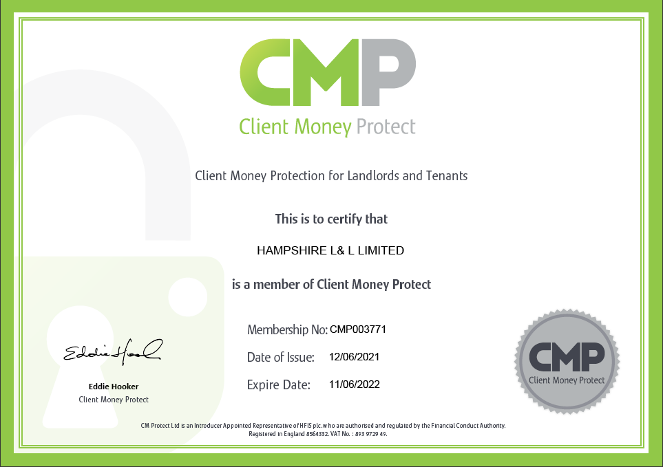 Client Money Protect certificate